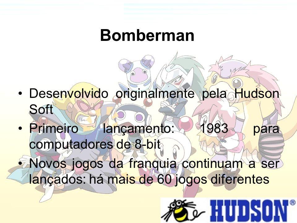 Desenvolvido originalmente pela Hudson Soft Primeiro lançamento: 1983 para computadores de 8-bit Novos jogos da franquia continuam a ser lançados: há