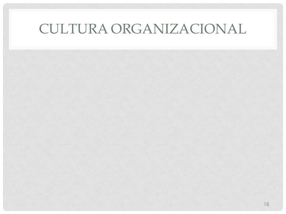 CULTURA ORGANIZACIONAL 18