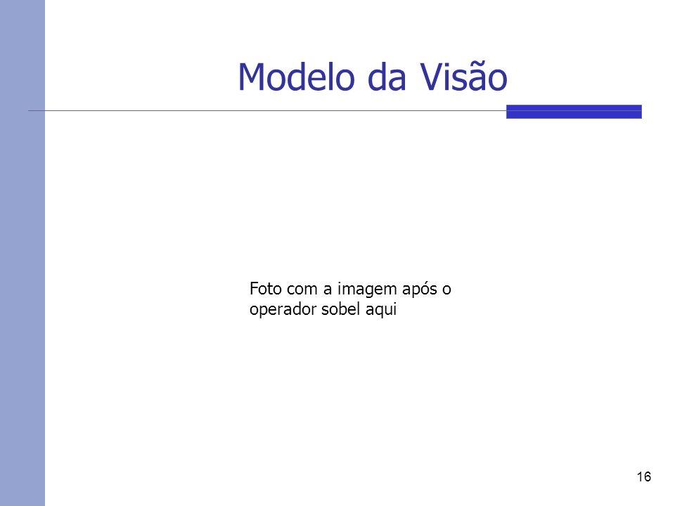 Modelo da Visão 16 Foto com a imagem após o operador sobel aqui