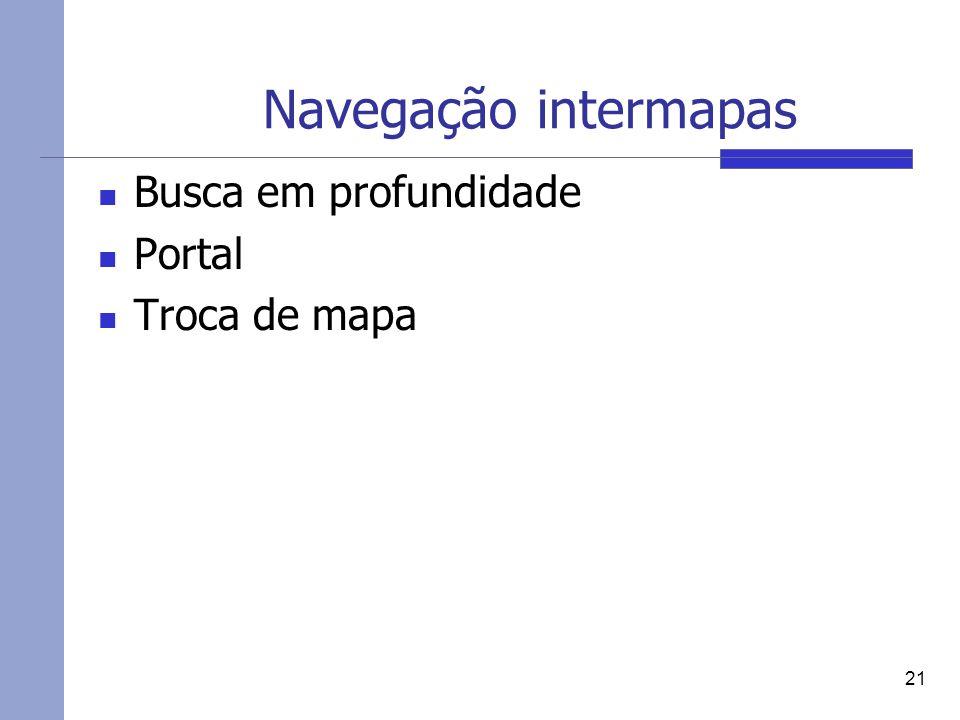 Navegação intermapas Busca em profundidade Portal Troca de mapa 21