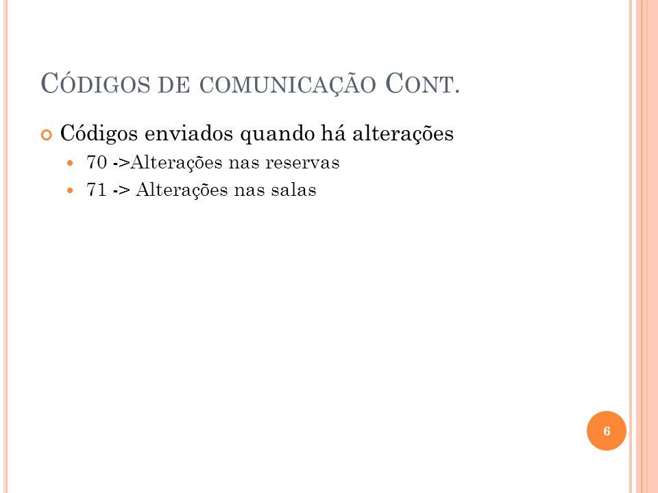 S ERVIÇO DE C ONSULTA DE S ALAS EM JAVA RMI 17