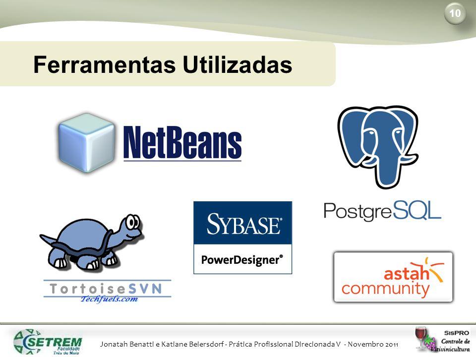 Jonatah Benatti e Katiane Beiersdorf - Prática Profissional Direcionada V - Novembro 2011 10 Ferramentas Utilizadas