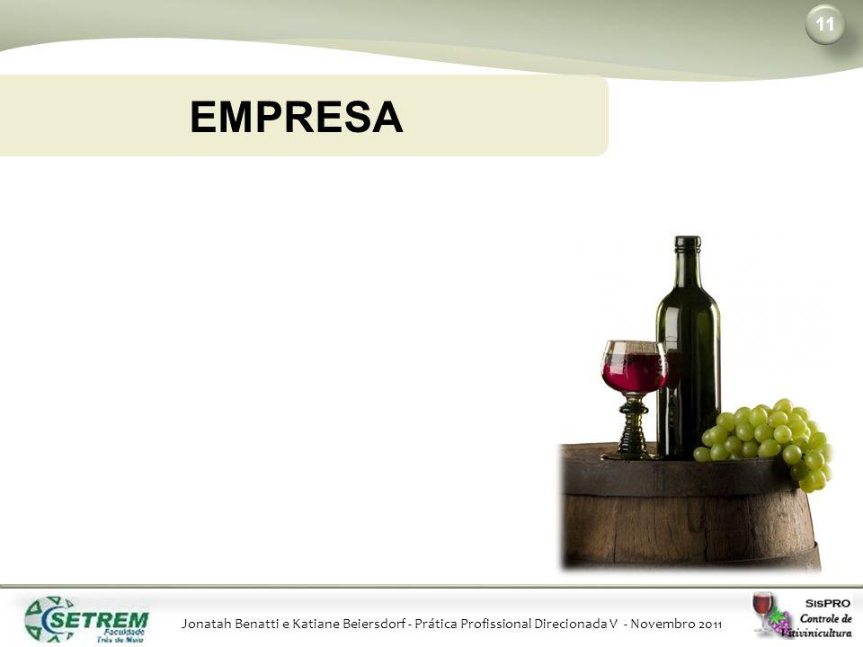Jonatah Benatti e Katiane Beiersdorf - Prática Profissional Direcionada V - Novembro 2011 11 EMPRESA