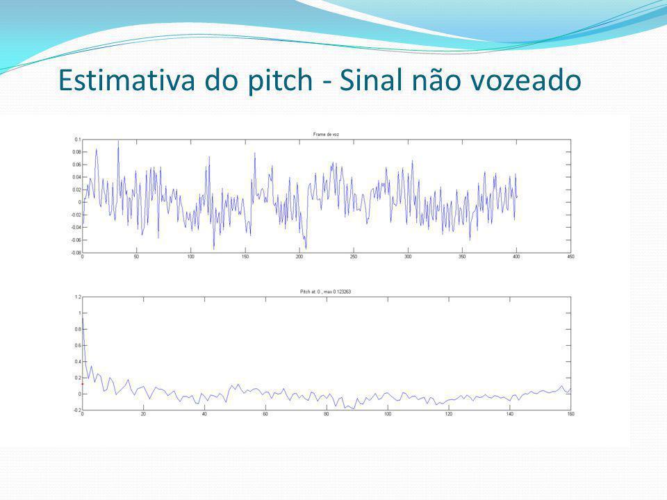 Estimativa do pitch - Sinal não vozeado