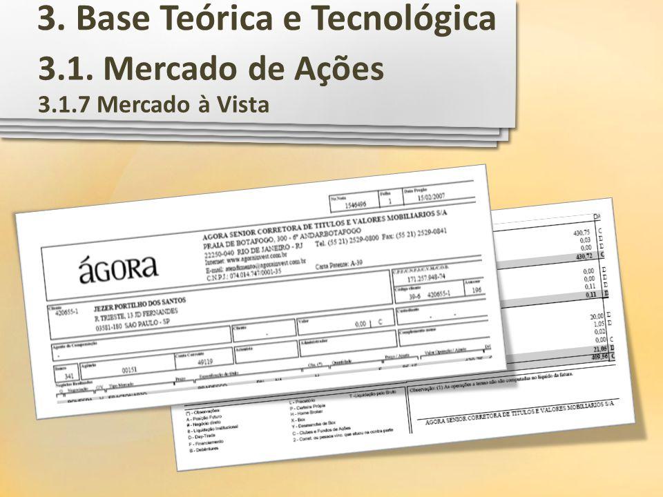 3.1. Mercado de Ações 3.1.7 Mercado à Vista 3. Base Teórica e Tecnológica