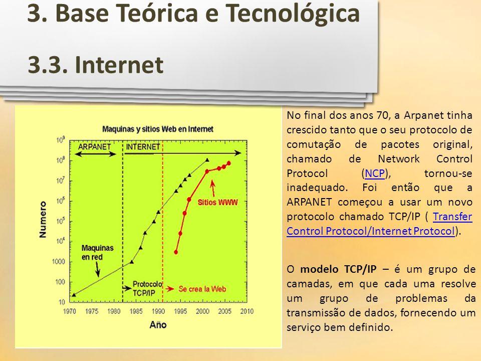 O modelo TCP/IP – é um grupo de camadas, em que cada uma resolve um grupo de problemas da transmissão de dados, fornecendo um serviço bem definido. No