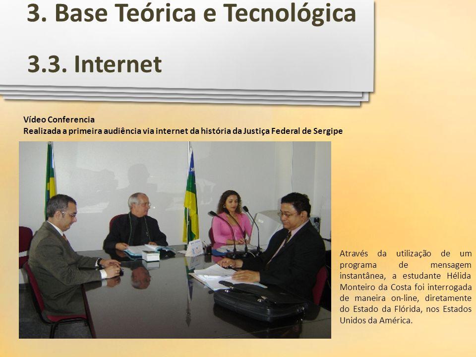 Vídeo Conferencia Realizada a primeira audiência via internet da história da Justiça Federal de Sergipe Através da utilização de um programa de mensag
