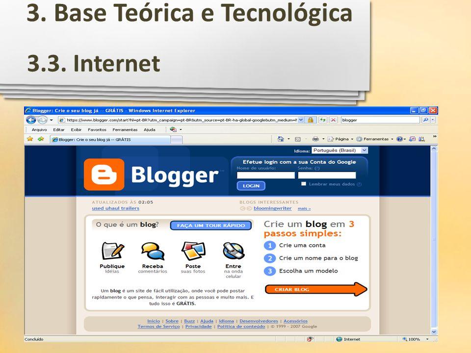 3.3. Internet 3. Base Teórica e Tecnológica