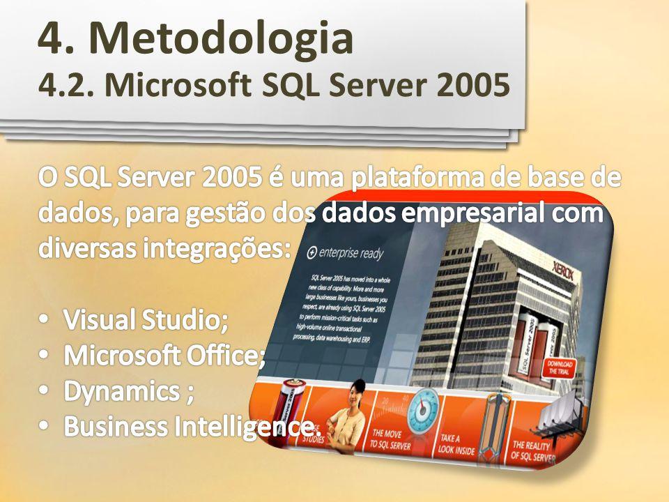 4.2. Microsoft SQL Server 2005 4. Metodologia