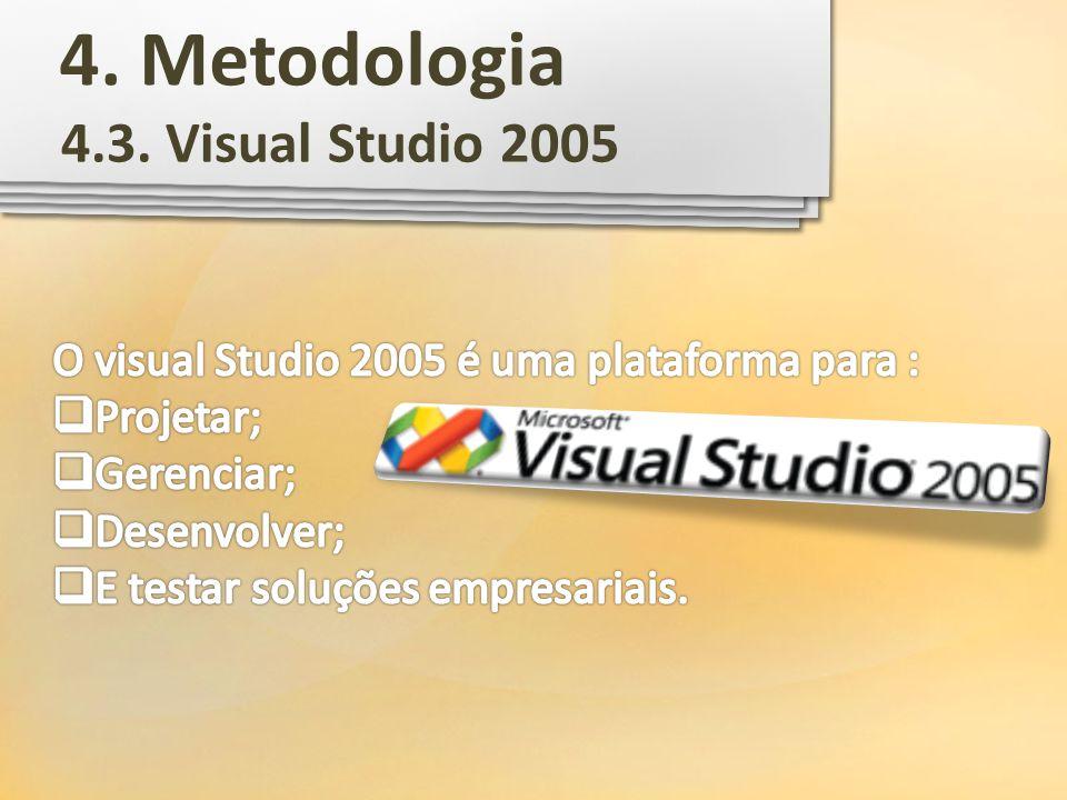 4.3. Visual Studio 2005 4. Metodologia