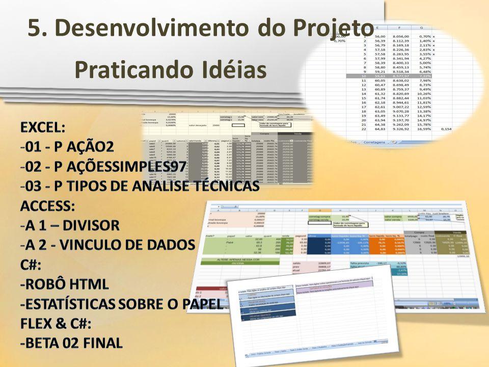 Praticando Idéias 5. Desenvolvimento do Projeto