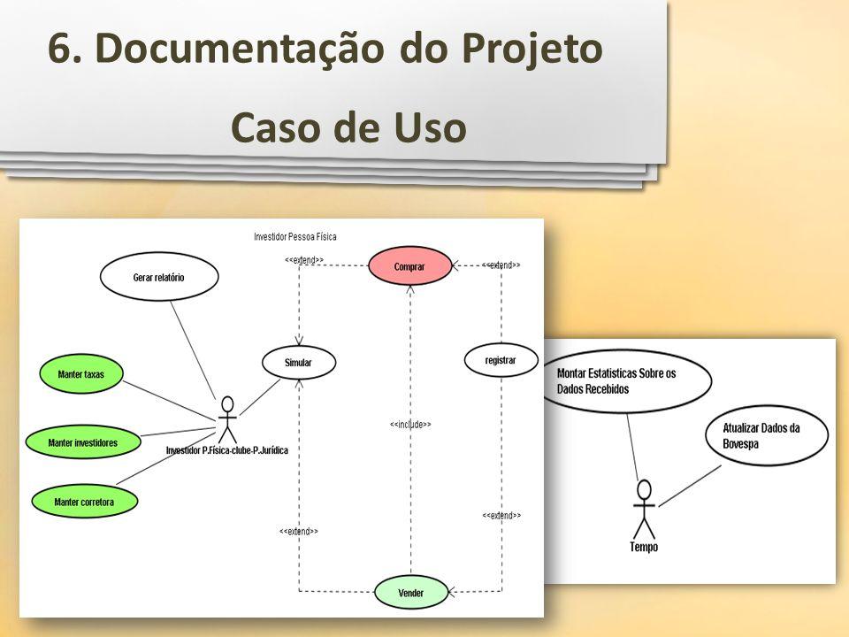Caso de Uso 6. Documentação do Projeto