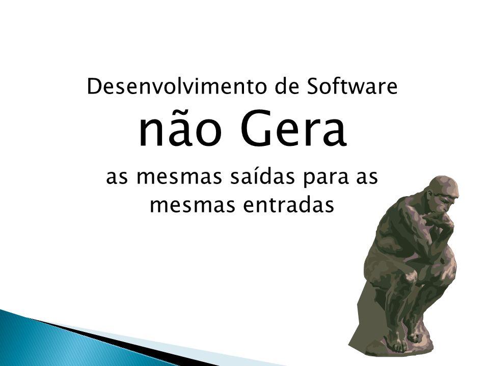 Desenvolvimento de Software não Gera as mesmas saídas para as mesmas entradas