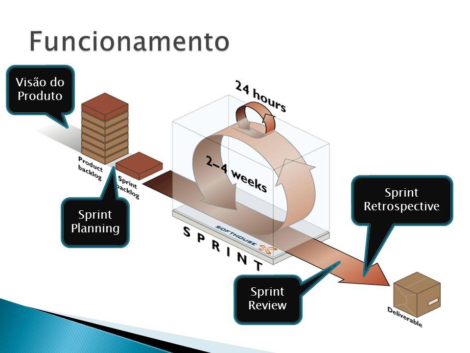 Sprint Planning Sprint Review Sprint Retrospective Visão do Produto