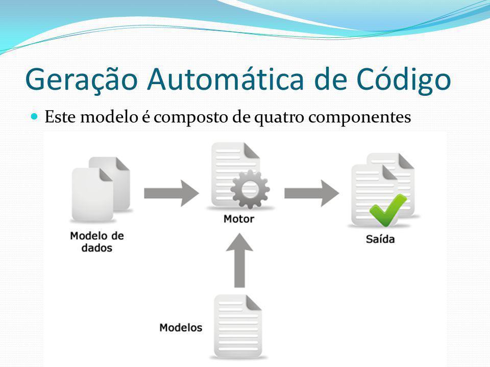 Geração Automática de Código Este modelo é composto de quatro componentes
