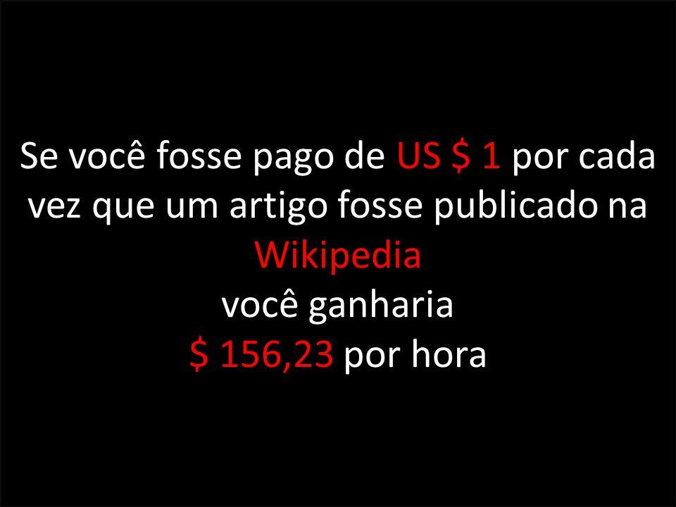 Se você fosse pago de US $ 1 por cada vez que um artigo fosse publicado na Wikipedia você ganharia $ 156,23 por hora