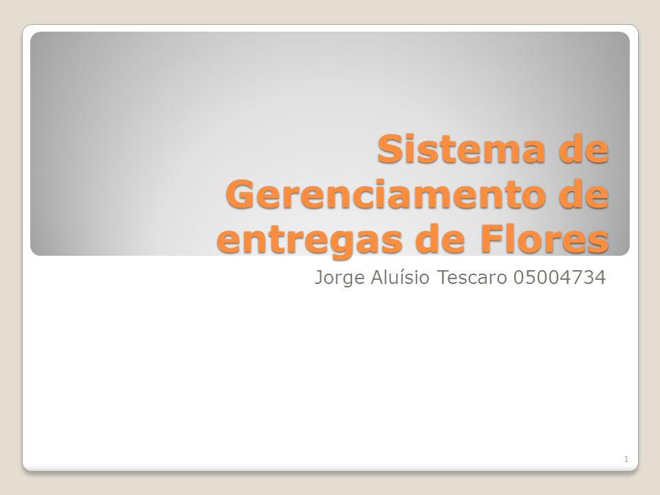 Sistema de Gerenciamento de entregas de Flores Jorge Aluísio Tescaro 05004734 1