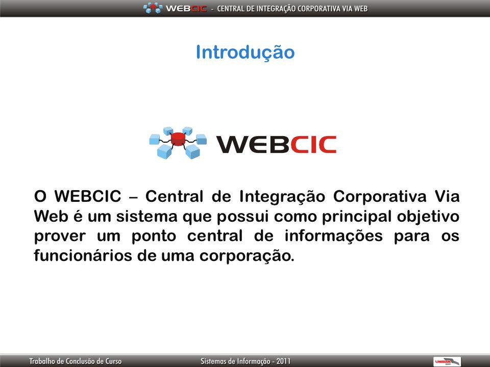 Introdução O WEBCIC – Central de Integração Corporativa Via Web é um sistema que possui como principal objetivo prover um ponto central de informações