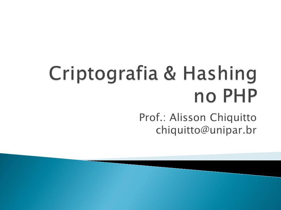 Prof.: Alisson Chiquitto chiquitto@unipar.br