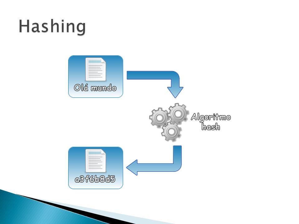 A função md5($string); Parâmetros: $string = String a ser calculada Calcula o hash md5 de uma string; Retorna uma string com 32 caracteres hexadecimais; http://php.net/md5