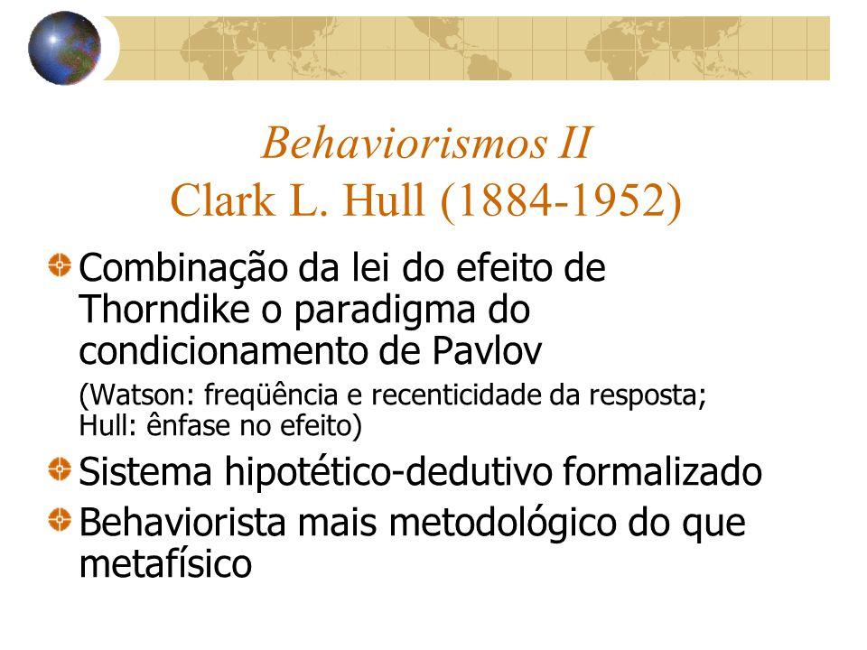Behaviorismos II Clark L.