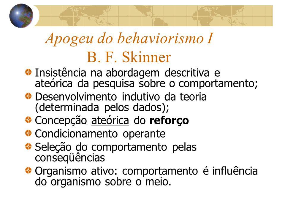 Apogeu do behaviorismo I B.F.