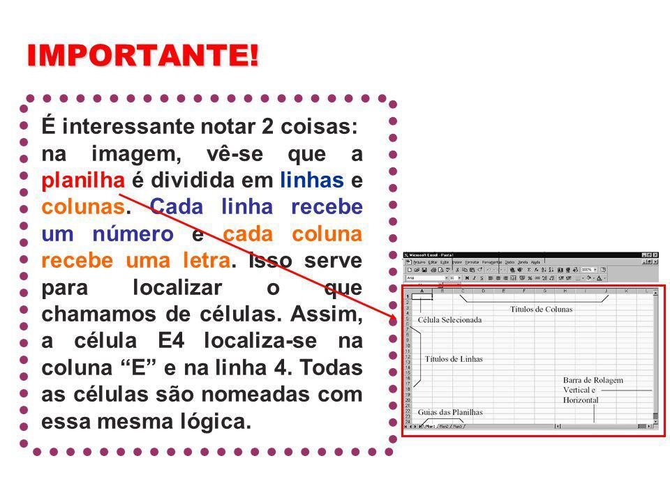 recebe um número recebe uma letra Elementos de uma pasta de trabalho do MS Excel.