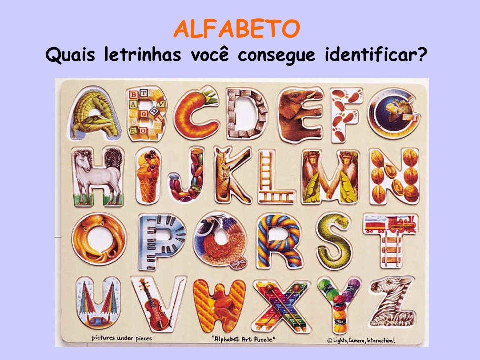 ALFABETO Quais letrinhas você consegue identificar?
