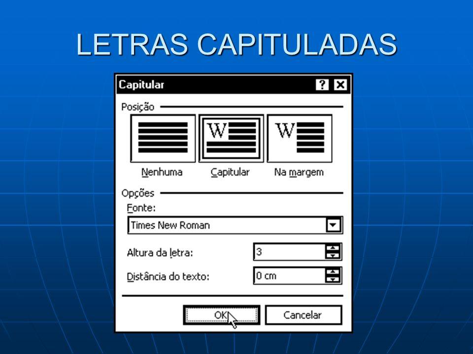 LETRAS CAPITULADAS