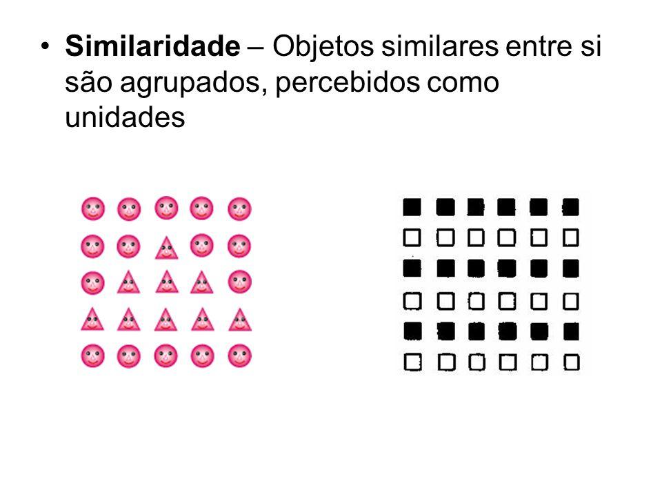 Similaridade – Objetos similares entre si são agrupados, percebidos como unidades