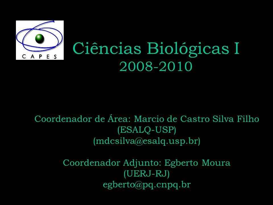 Ciências Biológicas I 2008-2010 Coordenador de Área: Marcio de Castro Silva Filho (ESALQ-USP) (mdcsilva@esalq.usp.br) Coordenador Adjunto: Egberto Mou