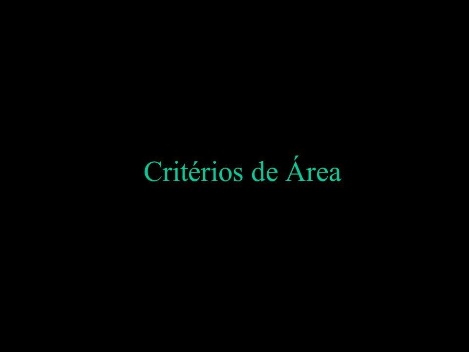 Critérios de Área
