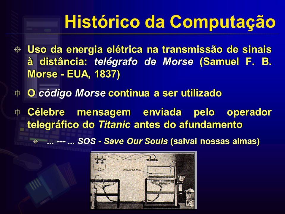 Uso da energia elétrica na transmissão de sinais à distância: telégrafo de Morse (Samuel F.
