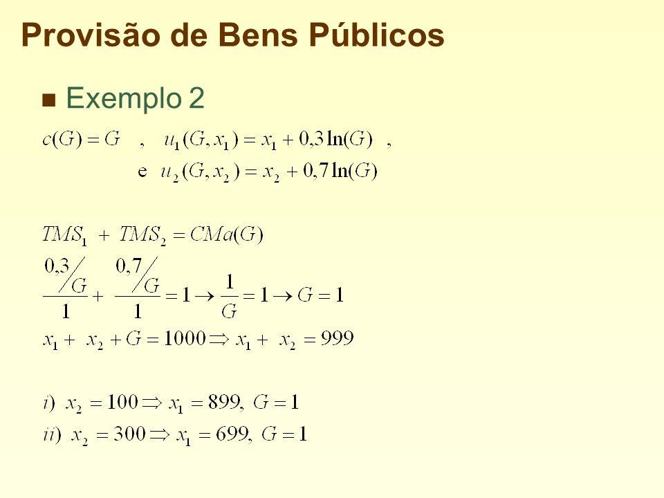 Provisão de Bens Públicos Exemplo 2
