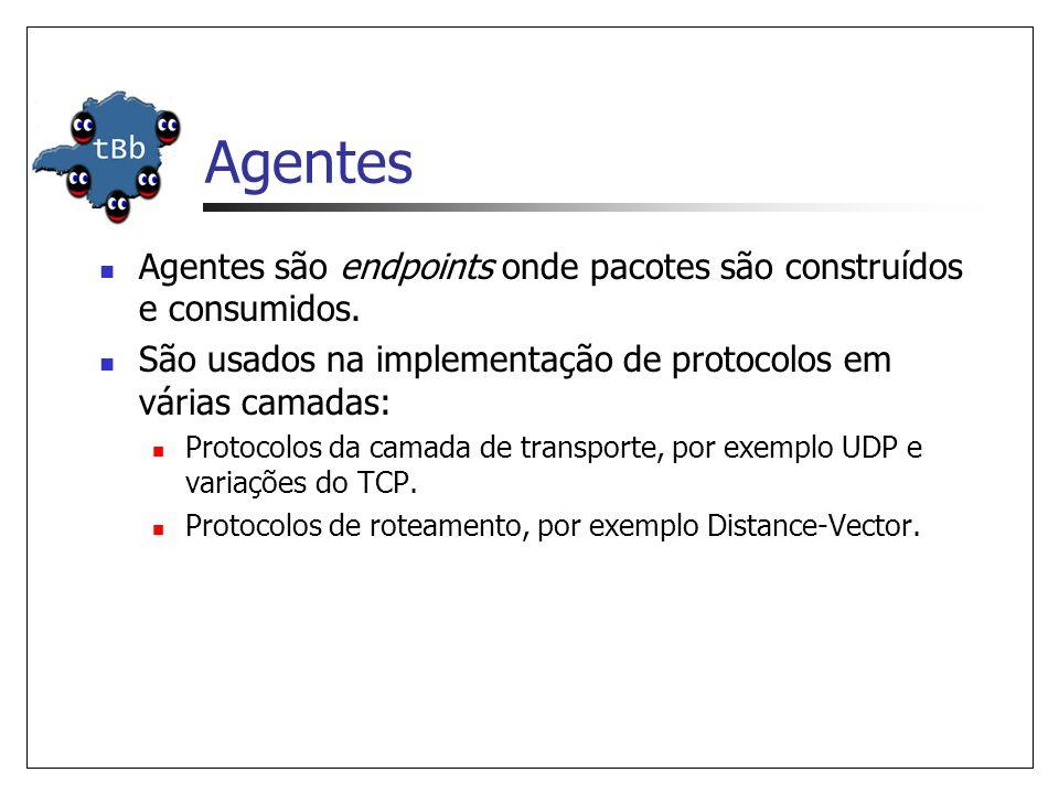 Agentes (Cont.) Vários agentes são disponibilizados pelo ns.