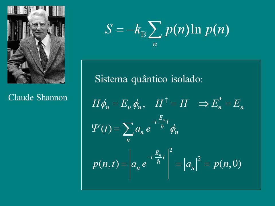 Claude Shannon Sistema quântico isolado :