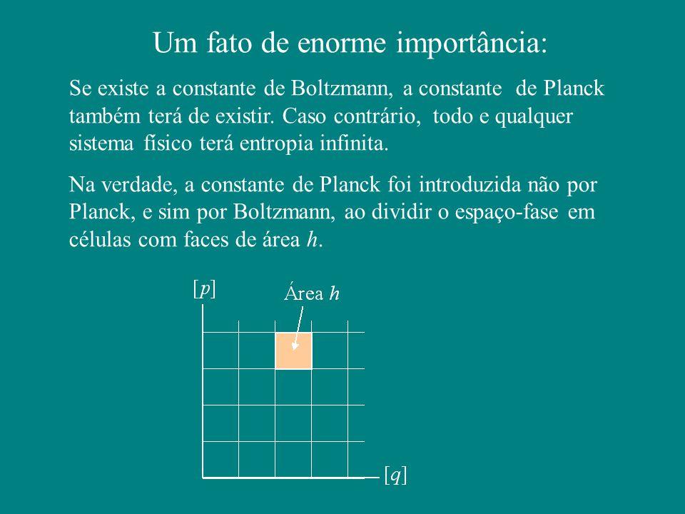 Um fato de enorme importância: Se existe a constante de Boltzmann, a constante de Planck também terá de existir.