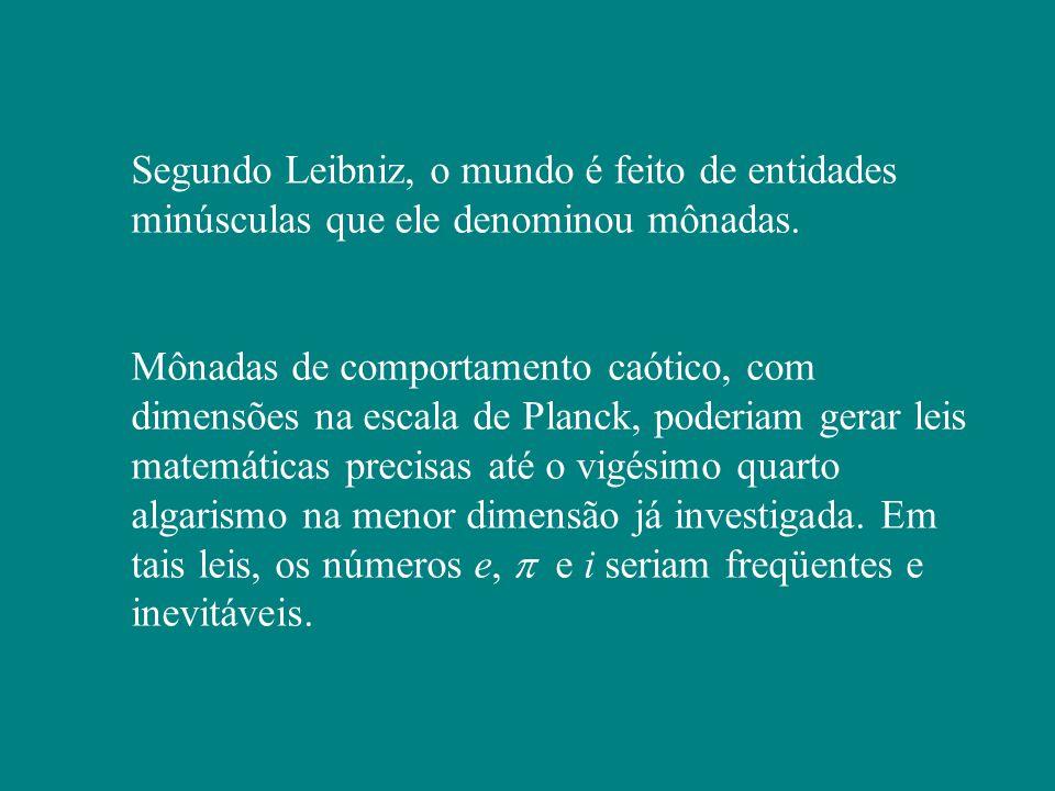 Segundo Leibniz, o mundo é feito de entidades minúsculas que ele denominou mônadas.