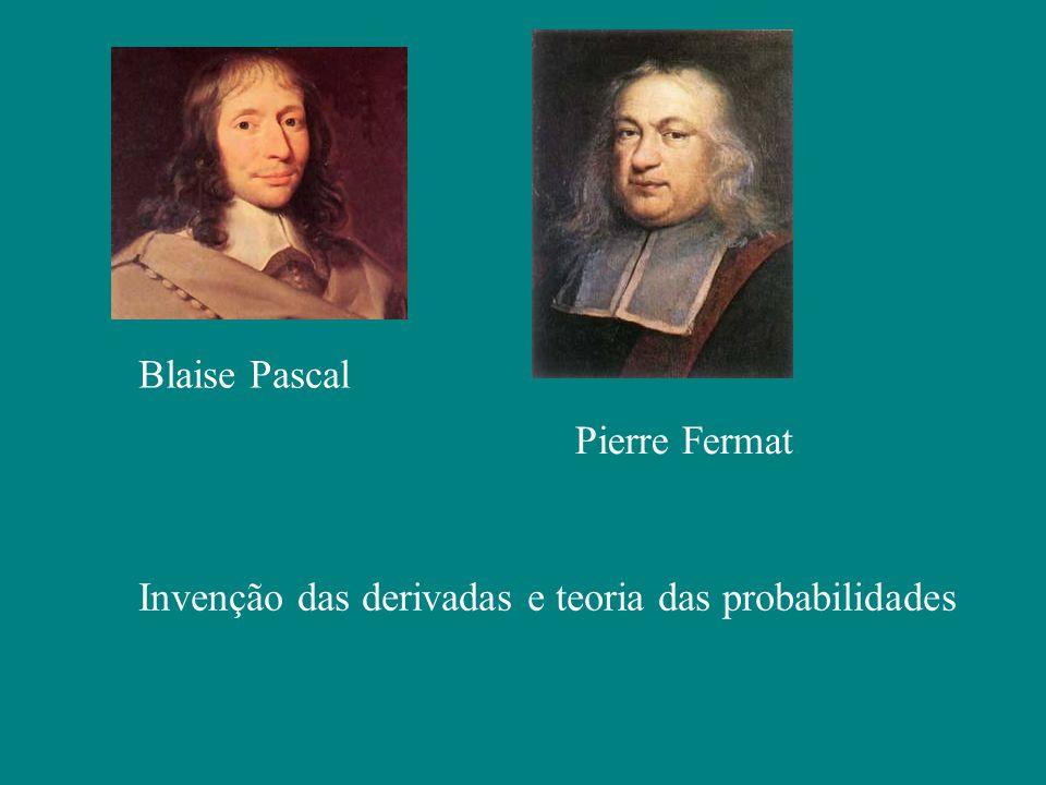 Blaise Pascal Pierre Fermat Invenção das derivadas e teoria das probabilidades