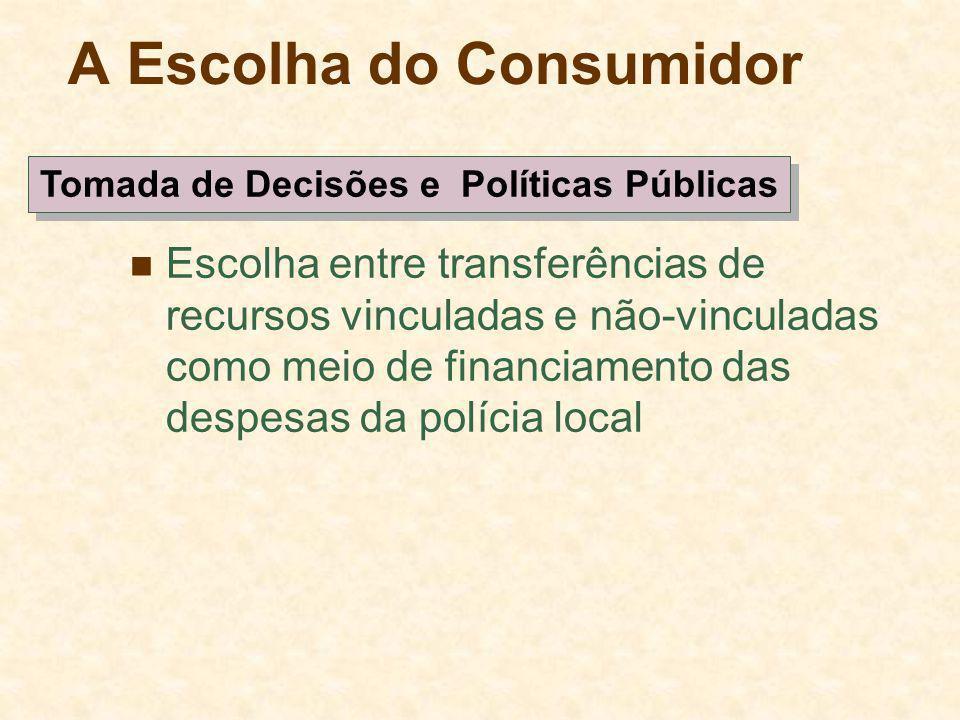A Escolha do Consumidor Escolha entre transferências de recursos vinculadas e não-vinculadas como meio de financiamento das despesas da polícia local