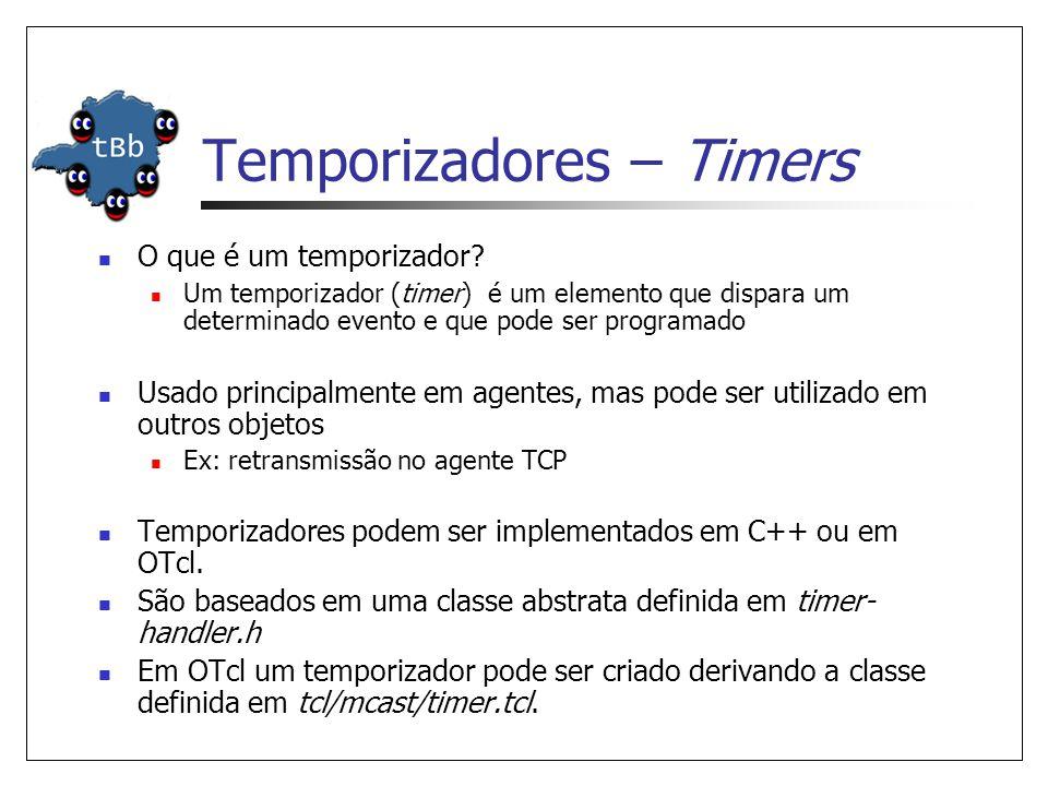 O que é um temporizador? Um temporizador (timer) é um elemento que dispara um determinado evento e que pode ser programado Usado principalmente em age