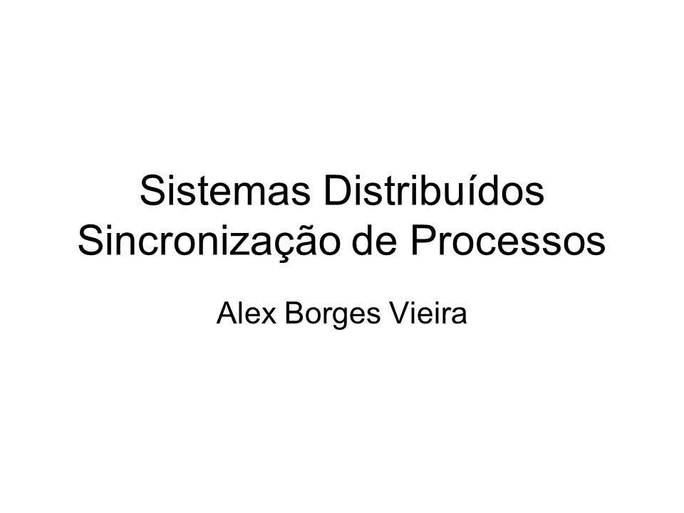 Sistemas Distribuídos Sincronização de Processos Alex Borges Vieira