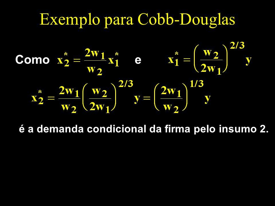 Exemplo para Cobb-Douglas é a demanda condicional da firma pelo insumo 2. Comoe