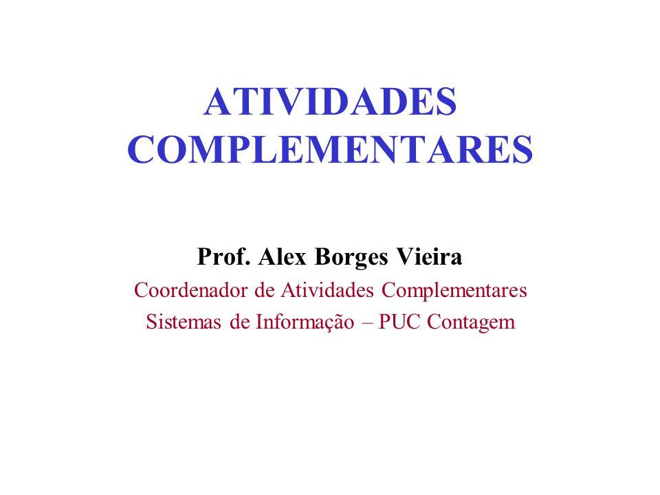 ATIVIDADES COMPLEMENTARES Prof.