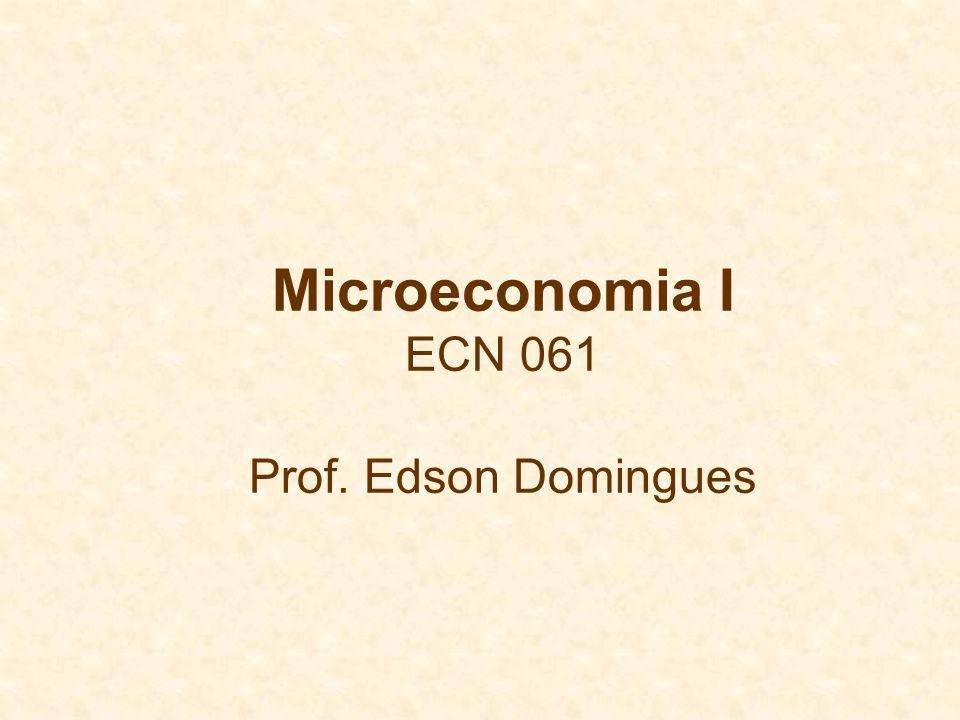 Microeconomia I ECN 061 Prof. Edson Domingues