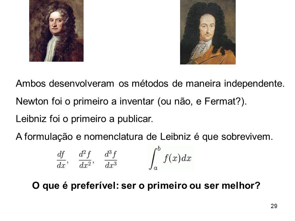 29 Ambos desenvolveram os métodos de maneira independente.
