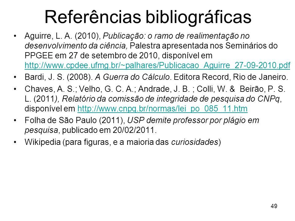Referências bibliográficas Aguirre, L.A.