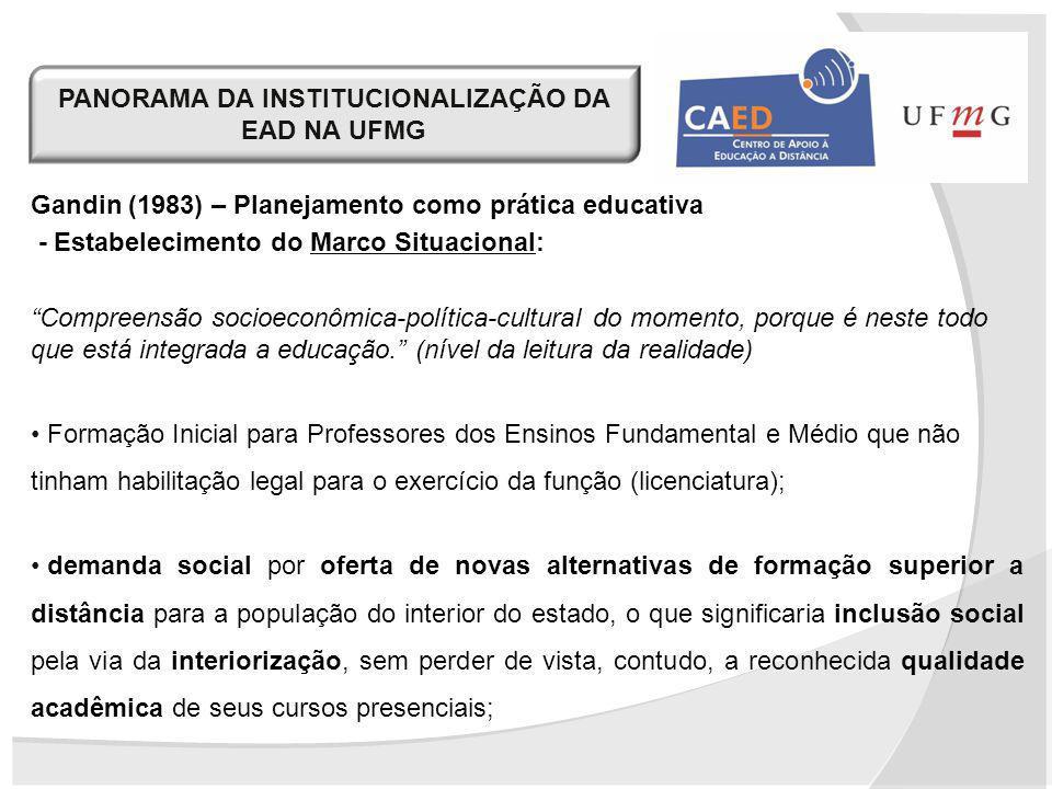 Gandin (1983) – Planejamento como prática educativa - Estabelecimento do Marco Situacional: Compreensão socioeconômica-política-cultural do momento, p