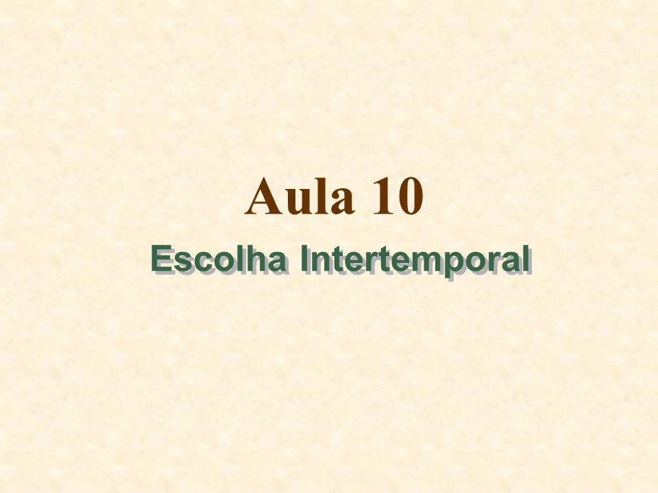 Aula 10 Escolha Intertemporal