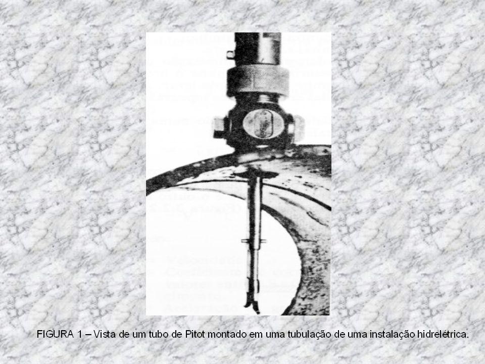 ESQUEMA DA LOCALIZAÇÃO DO PITOT EM RELAÇÃO A BARRAGEM DA USINA DE ERVÁLIA. Tubulação forçada 50 m30m Pitot Barragem 250 m